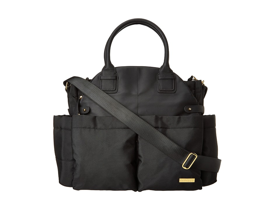 Skip Hop - Chelsea Diaper Satchel (Black) Handbags