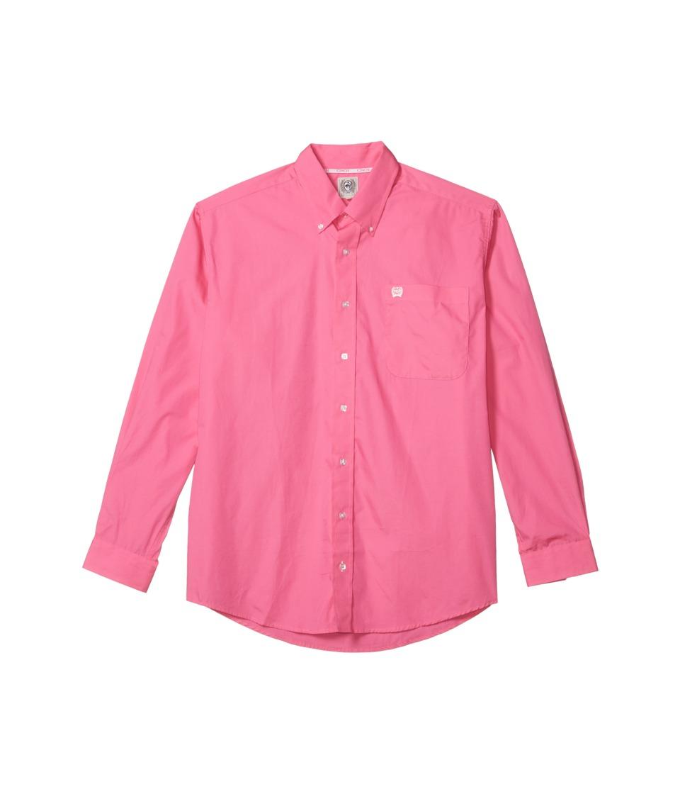 Cinch - Solid Long Sleeve (Dark Pink) Mens Clothing