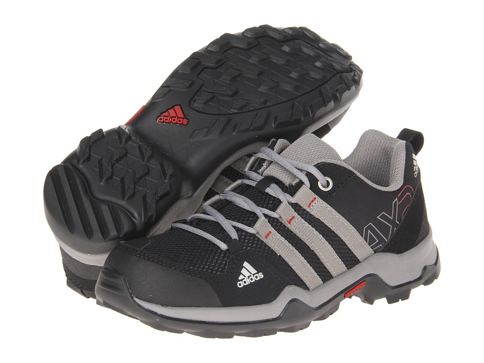adidas Outdoor Kids AX2 (Little Kid/Big Kid) (Black/Chalk/Light Scarlet) Boys Shoes