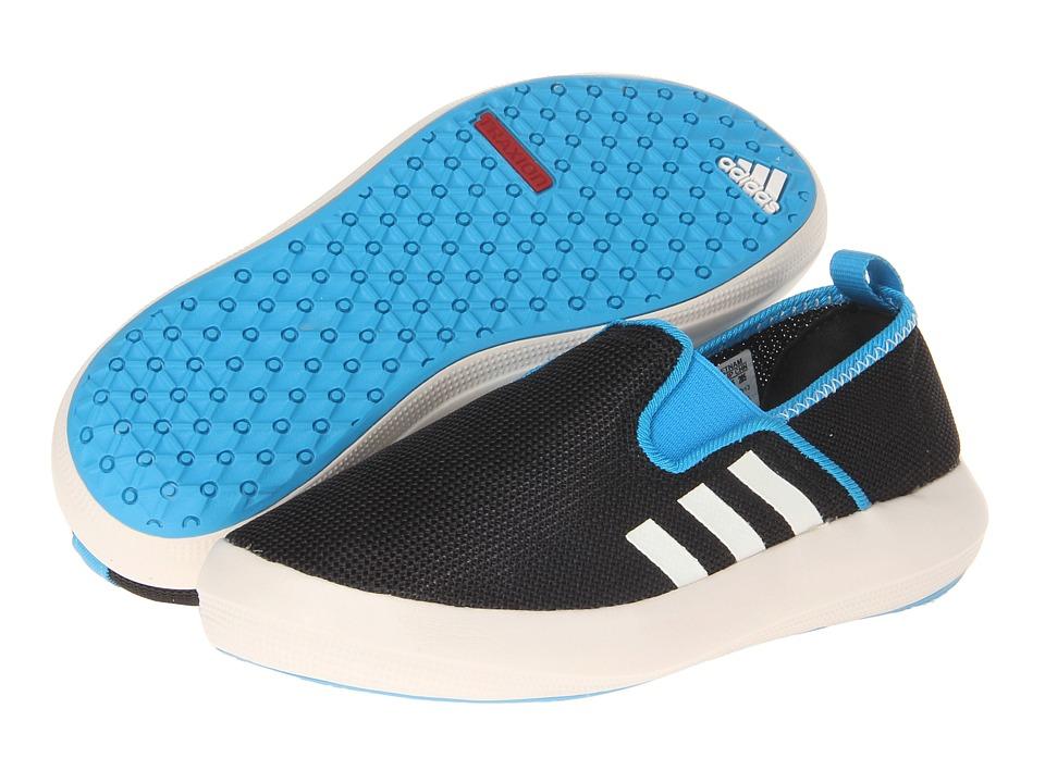 adidas Outdoor Kids Boat Slip On Little Kid/Big Kid Black/Chalk/Solar Blue Boys Shoes