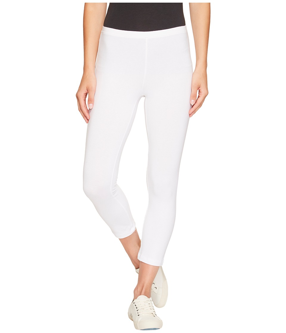 HUE Cotton Capri Legging (White) Women