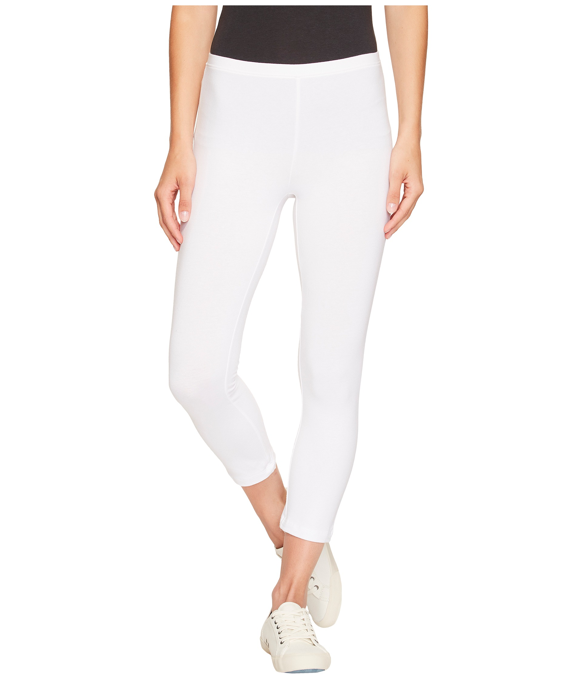 white cotton capri pants - Pi Pants