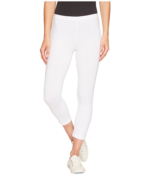 HUE - Cotton Capri Legging (White) Women's Capri