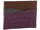 Cole Haan - Slim Card Case (Blazer Blue/Purple Reign Croc Print) - Bags and Luggage