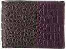Cole Haan - Slim Billfold Wallet (Blazer Blue/Purple Reign Croc Print) - Bags and Luggage