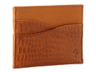 Cole Haan - Slim Card Case (Camello Croc Print) - Bags and Luggage