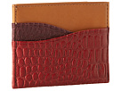Cole Haan - Slim Card Case (Tawny Port/Velvet Red Croc Print) - Bags and Luggage