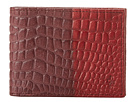 Cole Haan - Slim Billfold Wallet (Tawny Port/Velvet Red Croc Print) - Bags and Luggage