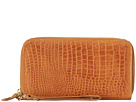Cole Haan - Double Zip Wallet (Camello Croc Print) - Bags and Luggage