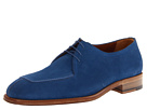 a. testoni - Casual Suede Apron Toe Oxford (Blue) - Footwear