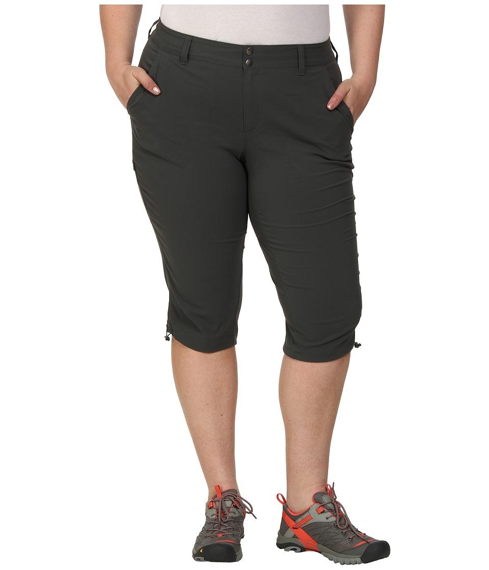 Columbia - Plus Size Saturday Trailtm II Knee Pant (Grill) Womens Capri