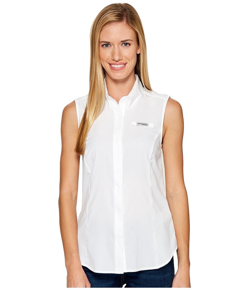 Columbia - Tamiamitm Sleeveless Shirt (White) Womens Sleeveless