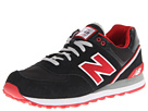 New Balance Classics ML574 Stadium Jacket Black, Red Shoes