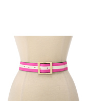 Kate Spade New York - Solid/Stripe Reversible Printed Jeans Belt