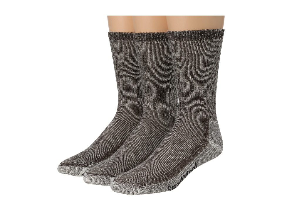 Smartwool Hike Medium Crew 3 Pack Dark Brown Crew Cut Socks Shoes