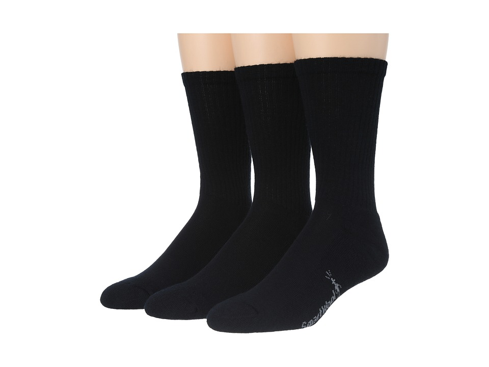 Smartwool - Heathered Rib 3-Pair Pack (Black) Mens Crew Cut Socks Shoes