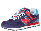 New Balance Classics M574 Blue, Red Shoes