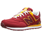 New Balance Classics M574 Red, Yellow Shoes