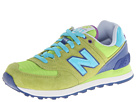 New Balance Classics WL574 Carnival Green Shoes