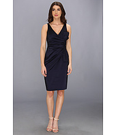 Maggy London - Solid Stretch Taffeta Side Bow Sleeveless Dress