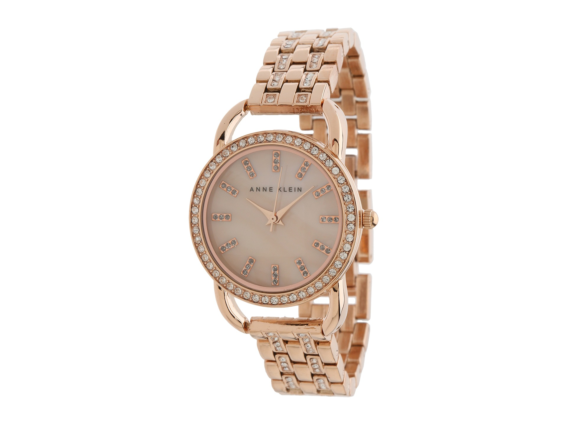 Anne klein ak 1262rmrg swarovski crystal accented dial watch rose gold shipped free at zappos for Anne klein swarovski crystals