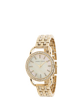 Anne Klein - AK/1262CMGB Everyday Classics Swarovski Crystal Accented Gold-Tone Mother-Of-Pearl Dial Bracelet Watch