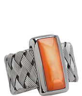 Roberto Coin - Woven Ring with Orange Mother Of Pearl