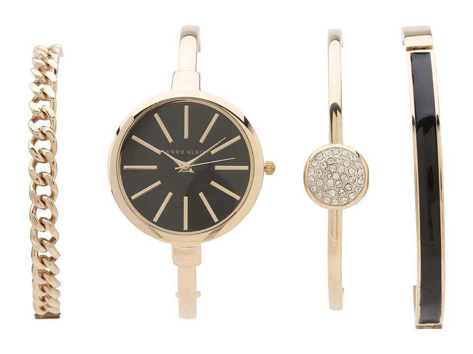 Anne Klein AK-1470GBST (Gold/Black) Watches