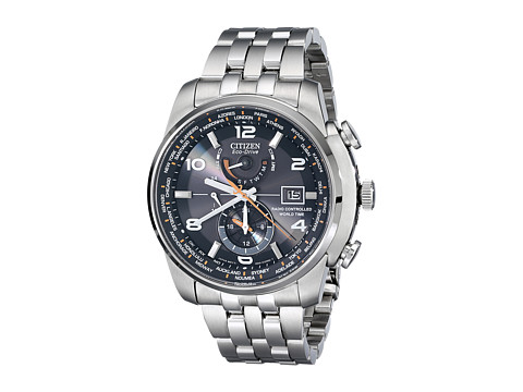 Citizen Watches AT9010-52E World Time A-T Eco-Drive 26 Time Zones Watch - Silver Tone Stainless Steel