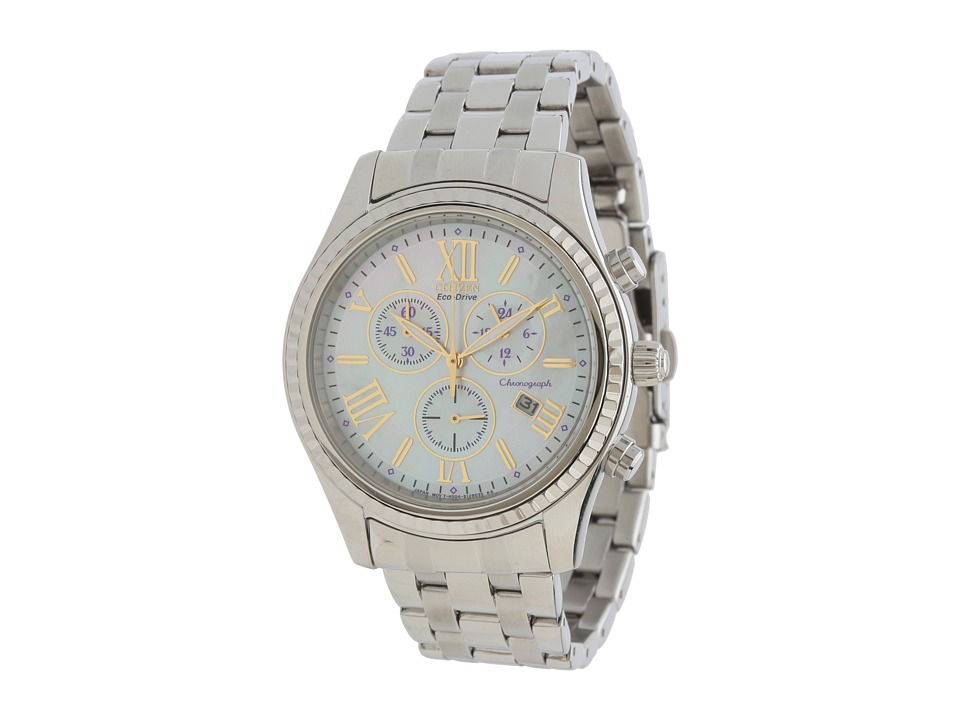 Citizen Watches FB1360 54D Eco Drive AML Chronograph Watch Silver Tone Stainless Steel Watches
