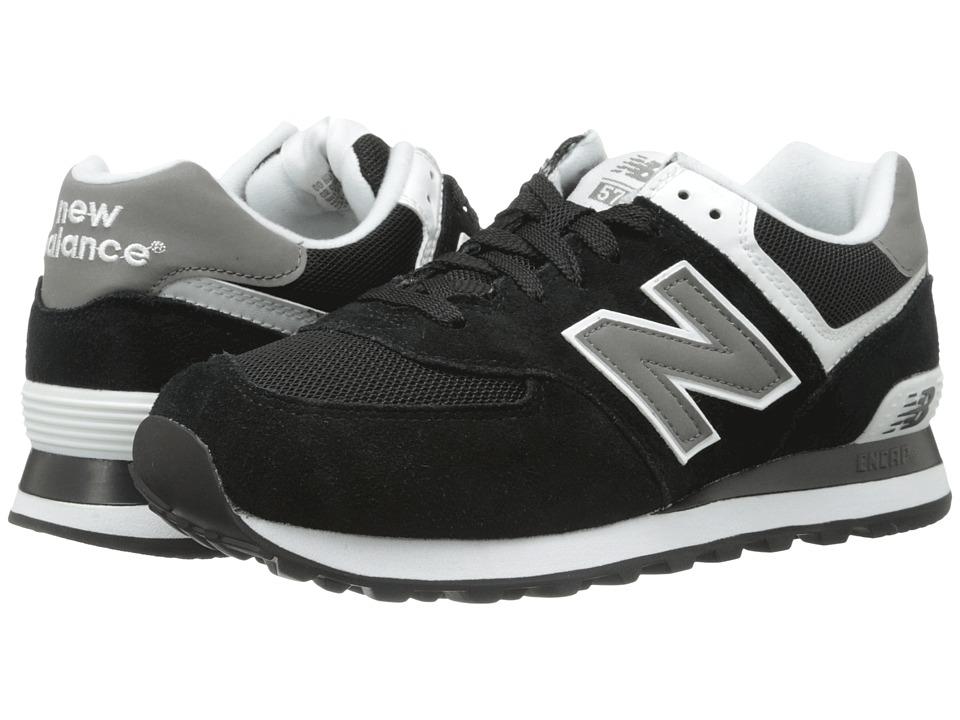 New Balance Classics M574 Black/Grey/White Mens Classic Shoes