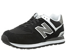 New Balance Classics M574 Black, Grey, White Shoes