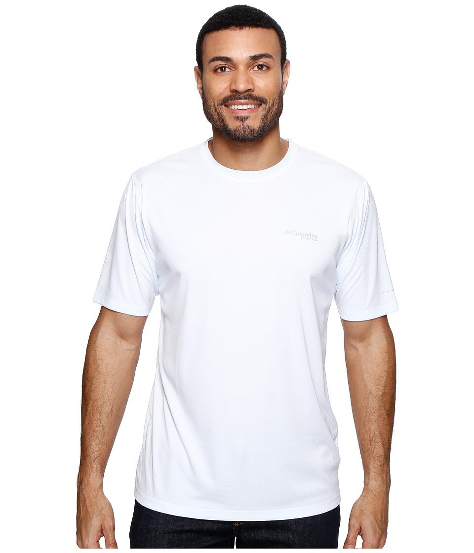 Columbia - PFG ZERO Rulestm S/S Shirt (White) Mens Short Sleeve Pullover