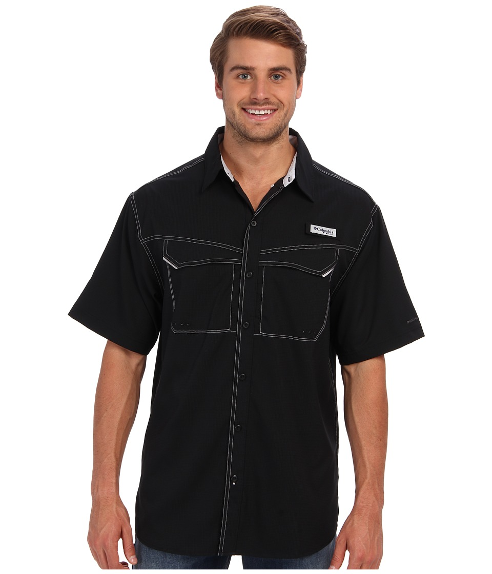 Columbia Low Drag Offshore S/S Shirt Black Mens Short Sleeve Button Up