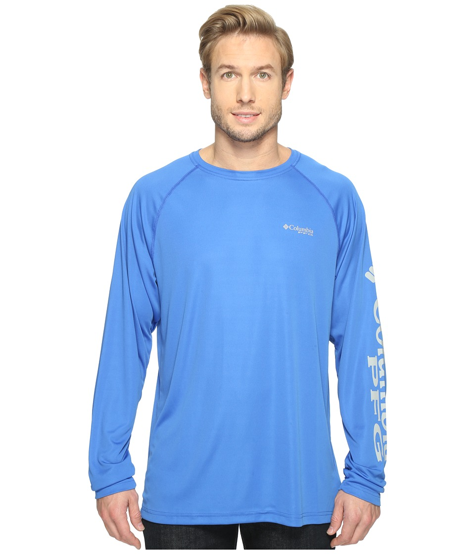 Columbia Terminal Tackle L/S Shirt (Vivid Blue/Cool Grey Logo) Men