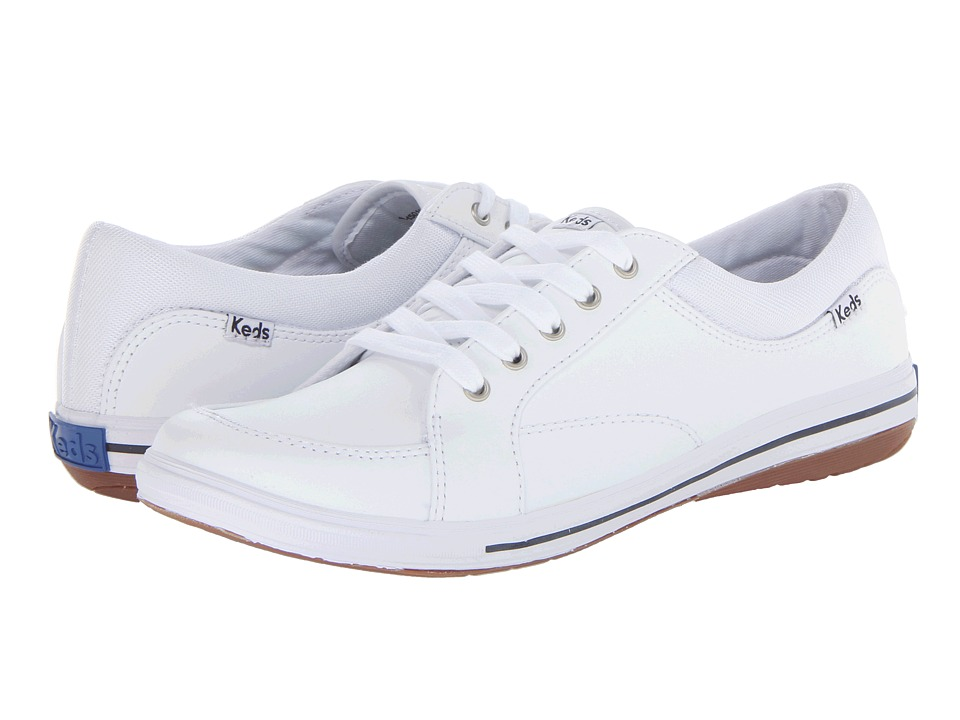 Keds - Vollie LTT (White Leather) Womens Lace up casual Shoes