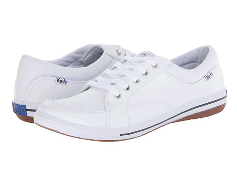 white leather keds athletic shoes