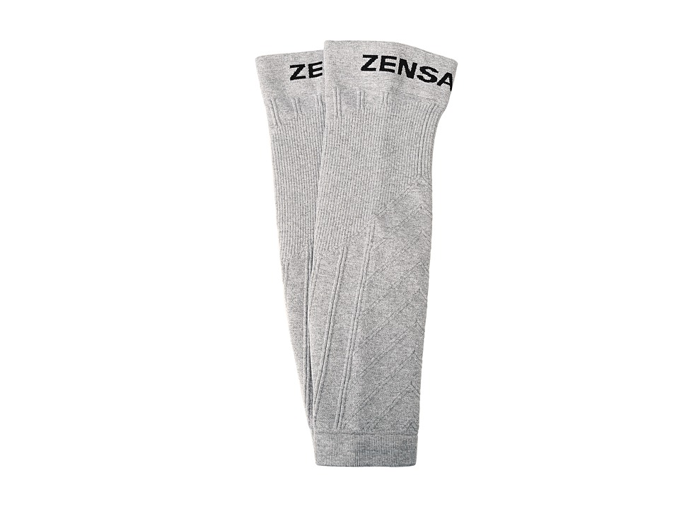 Zensah Compression Leg Sleeves Heather Silver Athletic Sports Equipment