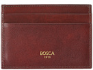 Bosca Old Leather Classic Front Pocket Wallet w/Money Clip (Dark Brown)