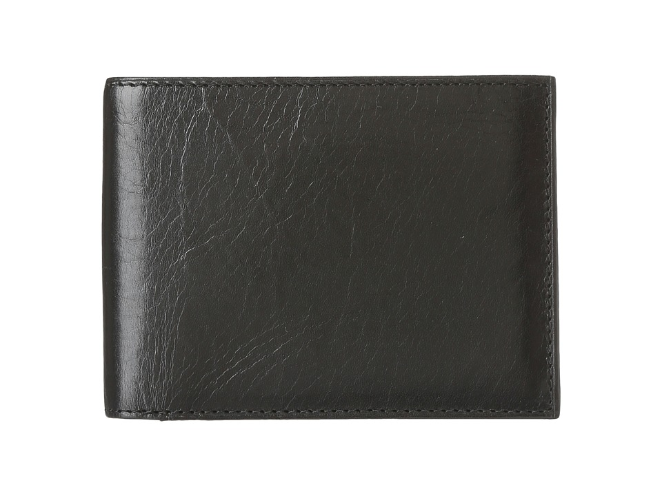 Bosca - Old Leather Continental I.D. Wallet (Black) Wallet Handbags