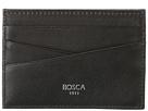 Bosca Nappa Vitello Front Pocket Wallet W/Money Clip (Black)