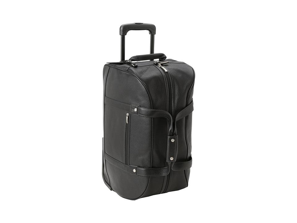 Bosca - Tribeca Wheeled Duffel (Black) Duffel Bags