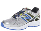 New Balance Kids 860v4 Little Kid, Big Kid Silver, Blue Shoes