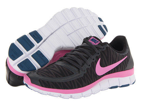 Nike - Free 5.0 V4 (Black/Anthracite/White/Red Violet) - Footwear