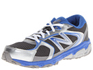 New Balance Kids KJ635 Little Kid, Big Kid Silver, Blue Shoes