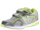 New Balance Kids KG635 Infant, Toddler Silver, Green Shoes