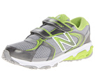 New Balance Kids KG635 Little Kid Silver, Green Shoes