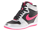 Nike - Force Sky High Sneaker Wedge (Black/Metallic Silver/White/Vivid Pink)