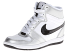 Nike - Force Sky High Sneaker Wedge (White/Metallic Silver/White/Black)