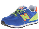 New Balance Kids KL574 Little Kid Blue, Green Shoes